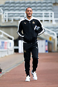 Newcastle United forward Yoan Gouffran (#20) arrives at S James's Park ahead of the EFL Sky Bet Championship match between Newcastle United and Barnsley at St. James's Park, Newcastle, England on 7 May 2017. Photo by Craig Doyle.