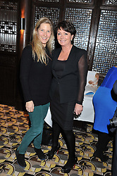 Left to right, LEONORA BAMFORD and ZITA WEST at a party to celebrate the publication of Zita West's book - Your Pregnancy Consultant held at China Tang, Park Lane, London on 6th December 2012.