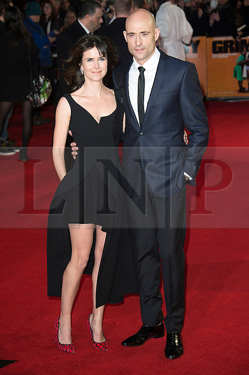 © Licensed to London News Pictures. 22/02/2016. LIZA MARSHALL and MARK STRONG attend the GRIMSBY Film premiere. The film centres around a black-ops spy whose brother is a football hooligan.  London, UK. Photo credit: Ray Tang/LNP