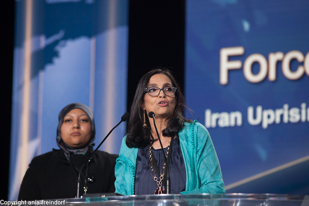 Paris conference on International Women's Day, the key speaker was Maryam Rajavi, the President-elect of the National Council of Resistance of Iran (NCRI), Najima Rhozali or Najima Thay Thay Rhozali is a Moroccan politician of the National Rally of Independents party
