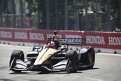 July 15, 2018 - Toronto, Ontario, Canada - JAMES HINCHCLIFFE (5) of Canada battles for position during the Honda Indy Toronto at Streets of Toronto in Toronto, Ontario. (Credit Image: © Justin R. Noe Asp Inc/ASP via ZUMA Wire)
