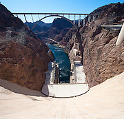 Lake Mead and Hoover Dam in the Black Canyon of the Colorado River. Mike O'Callaghan – Pat Tillman Memorial Bridge U.S. Route 93 Hoover Dam Bypass.