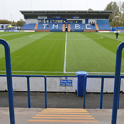 TELFORD COPYRIGHT MIKE SHERIDAN A general view external of Tameside Stadium during the Vanarama National League Conference North fixture between Curzon Asthon and AFC Telford United on Saturday, November 9, 2019.<br /> <br /> Picture credit: Mike Sheridan/Ultrapress<br /> <br /> MS201920-028