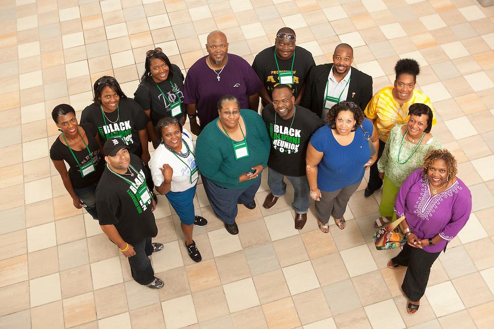 1990s alumni portrait Black Alumni Reunion Gala Through The Decades Cookout at Grover Center on September 28, 2013.