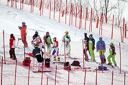 PYEONGCHANG-GUN, SOUTH KOREA - FEBRUARY 15: Stefan Hadalin and coaches of Slovenia during the Alpine Skiing Women's Giant Slalom at Yongpyong Alpine Centre on February 15, 2018 in Pyeongchang-gun, South Korea. Photo by Kim Jong-man / Sportida