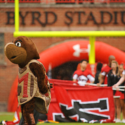 Sep 26, 2009; College Park, MD, USA; Maryland's mascot, Testudo the Terrapin, waits for Maryland to take the field before Rutgers' 34-13 victory over Maryland in NCAA college football at Byrd Stadium.