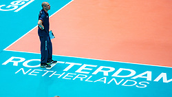 09-08-2019 NED: FIVB Tokyo Volleyball Qualification 2019 / Netherlands, - Korea, Rotterdam<br /> First match pool B in hall Ahoy between Netherlands - Korea (3-2) for one Olympic ticket / Coach Roberto Piazza of Netherlands
