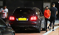 Manchester City's Riyad Mahrez is seen arriving back at The Lowry Hotel - 20 Aug 2018