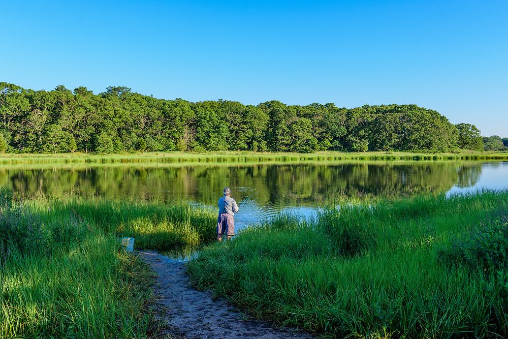 Man Fishing, Indian Island County Park, Riverhead, NY