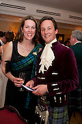 THE DUCHESS OF ARGYLL; THE DUKE OF ARGYLL, The Royal Caledonian Ball 2011. In aid of the Royal Caledonian Ball Trust. Grosvenor House. London. W1. 13 May 2011.<br /> <br />  , -DO NOT ARCHIVE-© Copyright Photograph by Dafydd Jones. 248 Clapham Rd. London SW9 0PZ. Tel 0207 820 0771. www.dafjones.com.