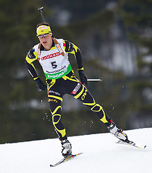 12.01.2011, Chiemgau Arena, GER, IBU Biathlon Worldcup, Ruhpolding, Individual Men, im Bild Alexis Boeuf (FRA) // Alexis Boeuf (FRA) during IBU Biathlon World Cup in Ruhpolding, Germany, EXPA Pictures © 2011, PhotoCredit: EXPA/ J. Feichter