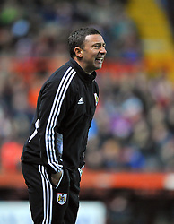 Bristol City Manager, Derek McInnes cuts a frustrated figure on the touch line - Photo mandatory by-line: Joe Meredith/JMP  - Tel: Mobile:07966 386802 01/12/2012 - Bristol City v Wolves - SPORT - FOOTBALL - Championship -  Bristol  - Ashton Gate Stadium -
