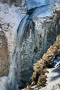 Clear Creek Falls plunges more than 300 feet down a rocky face near White Pass, Washington. This image of the falls surrounded by giant icicles was captured on a winter morning when it was just 19 degrees Fahrenheit.