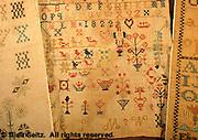 Mennonite Heritage Meetinghouse, Montgomery Co., Pennsylvania German embroidery on cloth, 1810-1825 dMennonite Sampler