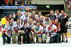Third place for team Canada at IIHF In-Line Hockey World Championships 2011 Top Division Gold medal game between National teams of Czech republic and USA on June 25, 2011, in Pardubice, Czech Republic. (Photo by Matic Klansek Velej / Sportida)