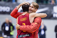 Spain Nacho Llovet and Javi Vega during FIBA European Qualifiers to World Cup 2019 between Spain and Slovenia at Coliseum Burgos in Madrid, Spain. November 26, 2017. (ALTERPHOTOS/Borja B.Hojas)