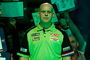 Michael van Gerwen walk-on during the World Darts Championships 2018 at Alexandra Palace, London, United Kingdom on 29 December 2018.