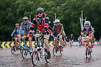 A view of the riders in the Brompton World Championship Final as they approach The Mall at Prudential RideLondon 29/07/2017<br /> <br /> Photo: Tom Lovelock/Silverhub for Prudential RideLondon<br /> <br /> Prudential RideLondon is the world's greatest festival of cycling, involving 100,000+ cyclists – from Olympic champions to a free family fun ride - riding in events over closed roads in London and Surrey over the weekend of 28th to 30th July 2017. <br /> <br /> See www.PrudentialRideLondon.co.uk for more.<br /> <br /> For further information: media@londonmarathonevents.co.uk