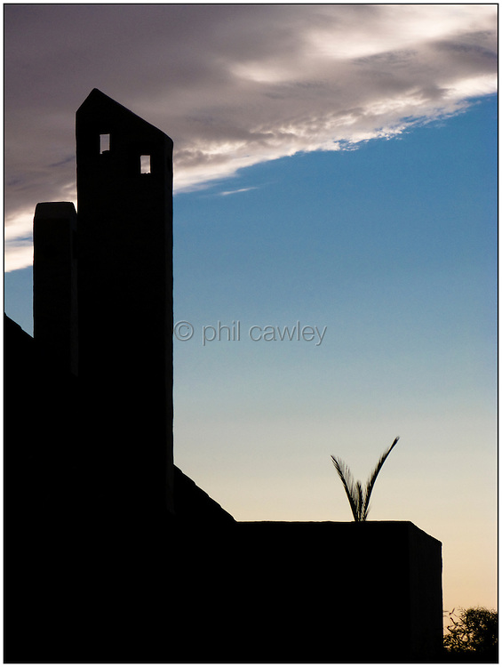 Silhouette of an apartment block in Spain