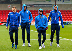 Tom Lockyer, Ryan Sweeney, Dom Telford and Adam Smith of Bristol Rovers - Mandatory by-line: Robbie Stephenson/JMP - 02/04/2018 - FOOTBALL - Highbury Stadium - Fleetwood, England - Fleetwood Town v Bristol Rovers - Sky Bet League One