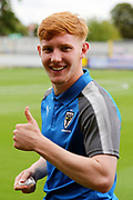 AFC Wimbledon midfielder Alfie Eagan (28) thumbs up during the EFL Sky Bet League 1 match between AFC Wimbledon and Shrewsbury Town at the Cherry Red Records Stadium, Kingston, England on 12 August 2017. Photo by Matthew Redman.