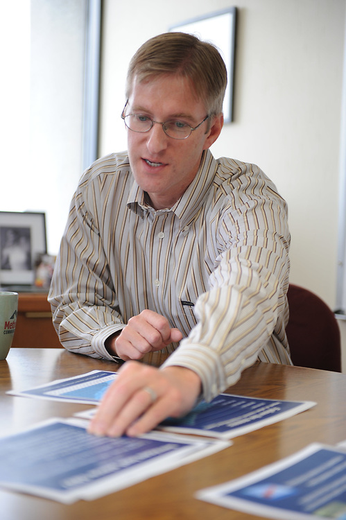 Mayor Ted Wheeler of Portland, Oregon during a meeting in his office.