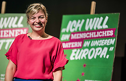 July 6, 2018 - Munich, Bavaria, Germany - The Spitzenduo (top duo) of KATHARINA SCHULZE and L. Hartmann of the Bavarian Green Party unveiled the course of their campaign for the 2018 Landtag elections which will take place in September. The focus of the majority of the parties is to unseat enough CSU politicians to eliminate its absolute majority, which has been criticized as eliminating democracy in the Landtag. (Credit Image: © Sachelle Babbar via ZUMA Wire)