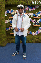 Former England and Arsenal footballer Ian Wright arrives at the Royal Salute Coronation Cup polo at Windsor Great Park in Surrey.