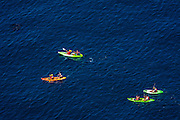 Kayaking at Cavern Point, Santa Cruz Island, Channel Islands National Park, California USA