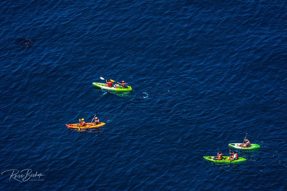 Kayaking at Cavern Point, Santa Cruz Island, Channel Islands National Park, California USA
