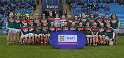 Mayo Ladies football team before the league match against Dublin at McHale park.<br /> Pic Conor McKeown