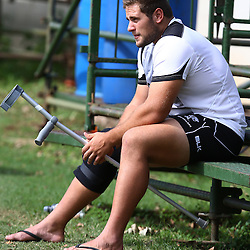 DURBAN, SOUTH AFRICA, 25 January 2016 -  Thomas du Toit during The Cell C Sharks Pre Season training for the 2016 Super Rugby Season at Growthpoint Kings Park in Durban, South Africa. (Photo by Steve Haag)<br /> images for social media must have consent from Steve Haag