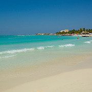 Palm trees, white sand and clear warm turquoise waters, need I say more.