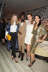 Left to right, DONNA AIR, ROY LUWOLT,  MARY ALICE MALONE and YASMIN MILLS at a party to celebrate the 10th anniversary of Nobu Berkeley Street held on 5th November 2015.