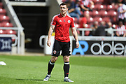 Sheffield United midfielder John Fleck (4) during the Pre-Season Friendly match between Northampton Town and Sheffield United at the PTS Academy Stadium, Northampton, England on 20 July 2019.