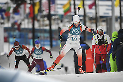 February 11, 2018 - Pyeongchang, GANGWON, SOUTH KOREA - Feb 10, 2018-Pyeongchang, South Korea-Weronika NOWAKOWSKA of Polska action on the snow during an Olympic Biathlon Women Sprint 7.5Km at Biathlon Center in Pyeongchang, South Korea. (Credit Image: © Gmc via ZUMA Wire)