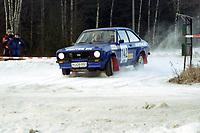 Motorsport, Rally Solør 2000.Egil Hvattum / Kjell Melaas, NMK Hadeland. Ford Escort  kl. 12. Foto: Digitalsport, Jan A. Holshagen