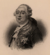 Louis XVI (1754-1793) king of France from 1774, brought to trial by the revolutionary National Convention, December 1792. Guillotined 21 January 1793.  French Revolution. Lithograph.