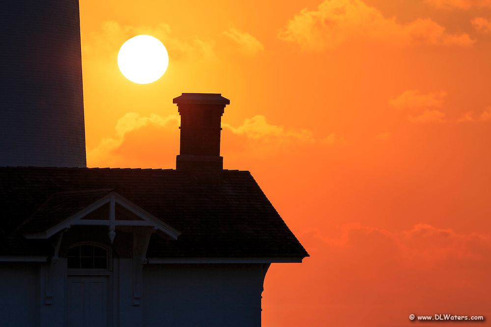 Sunrise silhouette at Bodie Island Lighthouse on the Outer Banks.