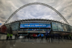Fan begin to arrive for today FA Cup tie between Everton and Manchester United - Mandatory byline: Jason Brown/JMP - 07966386802 - 23/04/2016 - FOOTBALL - Wembley Stadium - London, England - Everton v Manchester United - The Emirates FA Cup