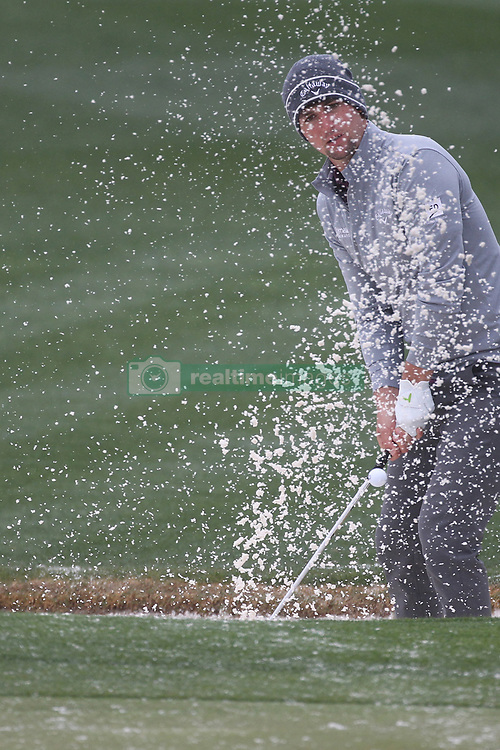 February 3, 2019 - Scottsdale, AZ, U.S. - SCOTTSDALE, AZ - FEBRUARY 03: Ollie Schniederjans hits from the sand trap on the 9th green during the final round of the Waste Management Phoenix Open on February 3, 2019, at TPC Scottsdale in Scottsdale, Arizona.  (Photo by Will Powers/Icon Sportswire) (Credit Image: © Will Powers/Icon SMI via ZUMA Press)
