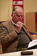 Dietzenbach   09 October 2015<br /> <br /> Am Freitag (09.10.2015) f&uuml;hrte die Partei &quot;Alternative f&uuml;r Deutschland&quot; (AfD) im B&uuml;rgerhaus in der hessischen Kleinstadt Dietzenbach eine Veranstaltung unter dem Motto &quot;Internationale Politik und Asylchaos&quot; durch, Hauptredner war Dr. Alexander Gauland.<br /> Hier: Dr. Alexander Gauland in einem Pressegespr&auml;ch vor Beginn der Veranstaltung.<br /> <br /> &copy;peter-juelich.com<br /> <br /> [No Model Release   No Property Release]