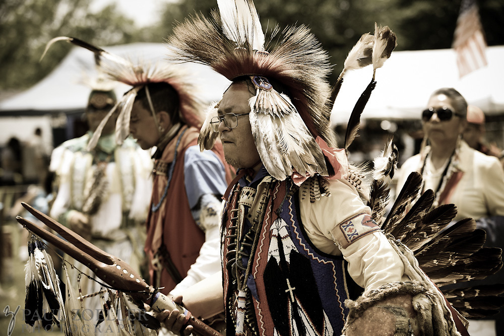 RC Mowatt, a member of the Commanche tribe in Oklahoma, joins others in the ring during the 2011 Annual Edisto Indian Natchez-Kusso Powwow in Ridgeville.