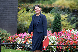 © Licensed to London News Pictures. 17/10/2017. London, UK. International Development Secretary Priti Patel arriving in Downing Street to attend a Cabinet meeting this morning. Photo credit : Tom Nicholson/LNP