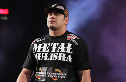 Feb 12, 2011; East Rutherford, NJ; USA; Shane Del Rosario makes his way to the cage for his bout against Lavar Johnson at Strikeforce at the IZOD Center in East Rutherford, NJ.  Del Rosario won via submission.