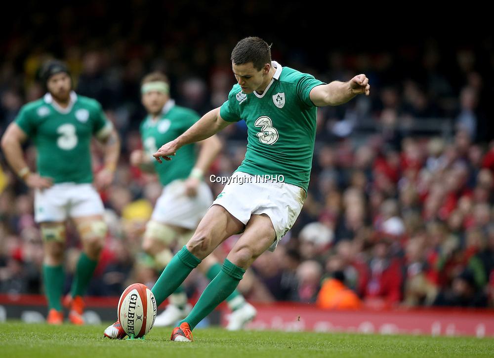 RBS 6 Nations Championship, Millennium Stadium, Cardiff, Wales 14/3/2015<br /> Wales vs Ireland <br /> Ireland's Jonathan Sexton kicks <br /> Mandatory Credit &copy;INPHO/Dan Sheridan