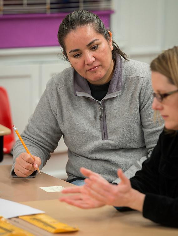 Academic Parent Teacher Teams (APTT) meet  at Wharton Elementary School, January 29, 2014.