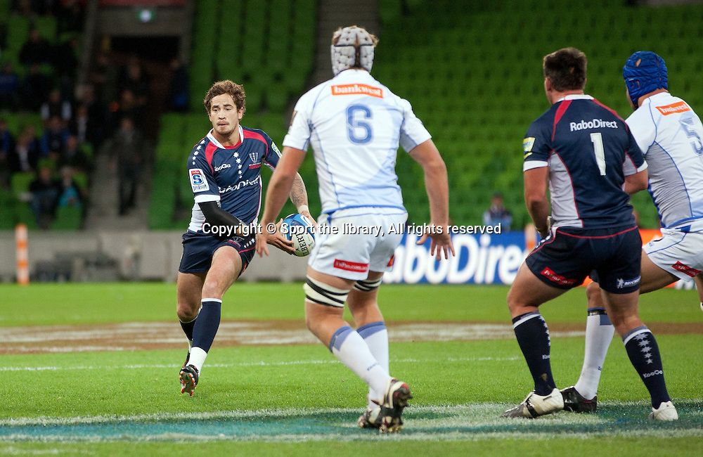 Danny Cipriani (Rebels)<br /> Melbourne Rebels vs Western Force<br /> Rugby Union - 2012 Super Rugby<br /> AAMI Park, Melbourne VIC Australia<br /> Friday, March 23rd 2012<br /> &copy; Sport the library/ Lucas Wroe
