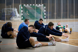 Matjaz Brumen and Bostjan Kavas at Open training session for the public of Slovenian handball National Men team before European Championships Austria 2010, on December 27, 2009, in Terme Olimia, Podcetrtek, Slovenia.  (Photo by Vid Ponikvar / Sportida)