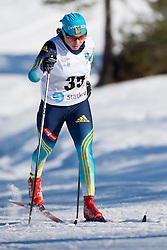 SHYSHKOVA Oksana Guide: NESTERENKO L, UKR, Middle Distance Cross Country, 2015 IPC Nordic and Biathlon World Cup Finals, Surnadal, Norway